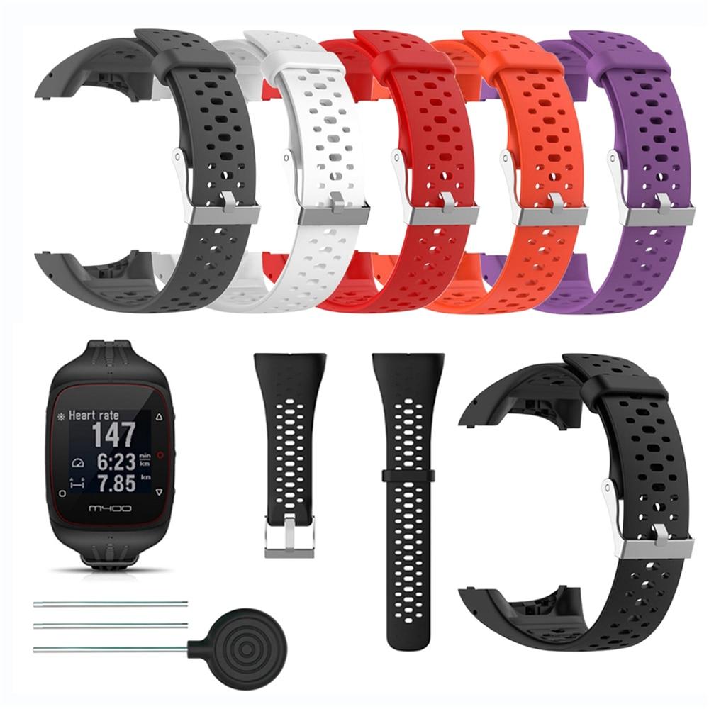 334ae19c7bee Pulsera de silicona de la correa para Polar M400 M430 GPS deportes reloj  inteligente de reloj de pulsera de reloj Correa banda