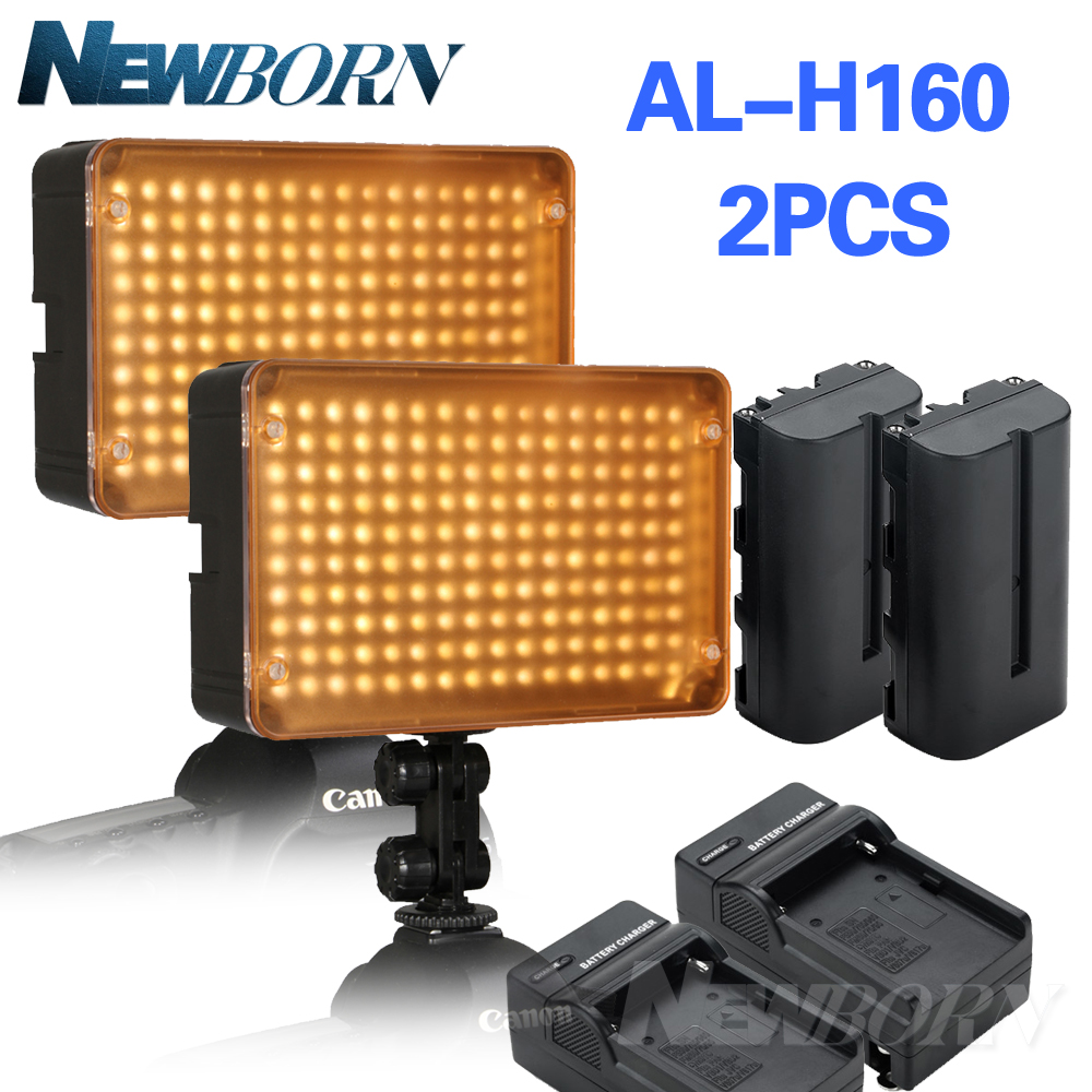 2pcs/lot Aputure Amaran AL-H160 CRI 95+ 160 LED Video Studio Light Photography Lighting + NP-F550 Battery +Charger (Gift) диван carina прямой цвет молочный шоколад 140 x 210