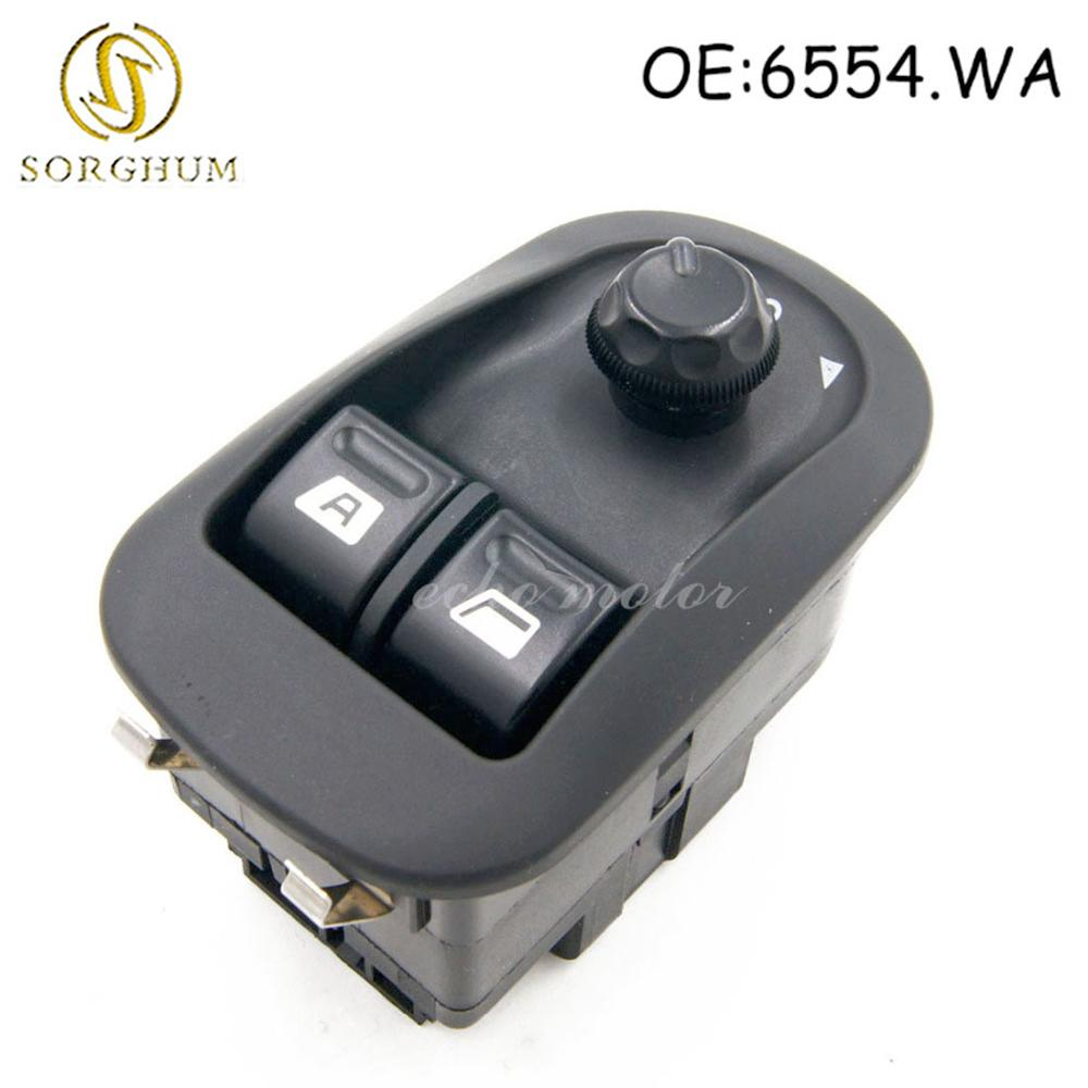 New Electric Power Window Switch Master Button Control Windows <font><b>Mirror</b></font> Switch 6554.WA For <font><b>Peugeot</b></font> <font><b>206</b></font> 2002-2013 2014 2015 2016 image
