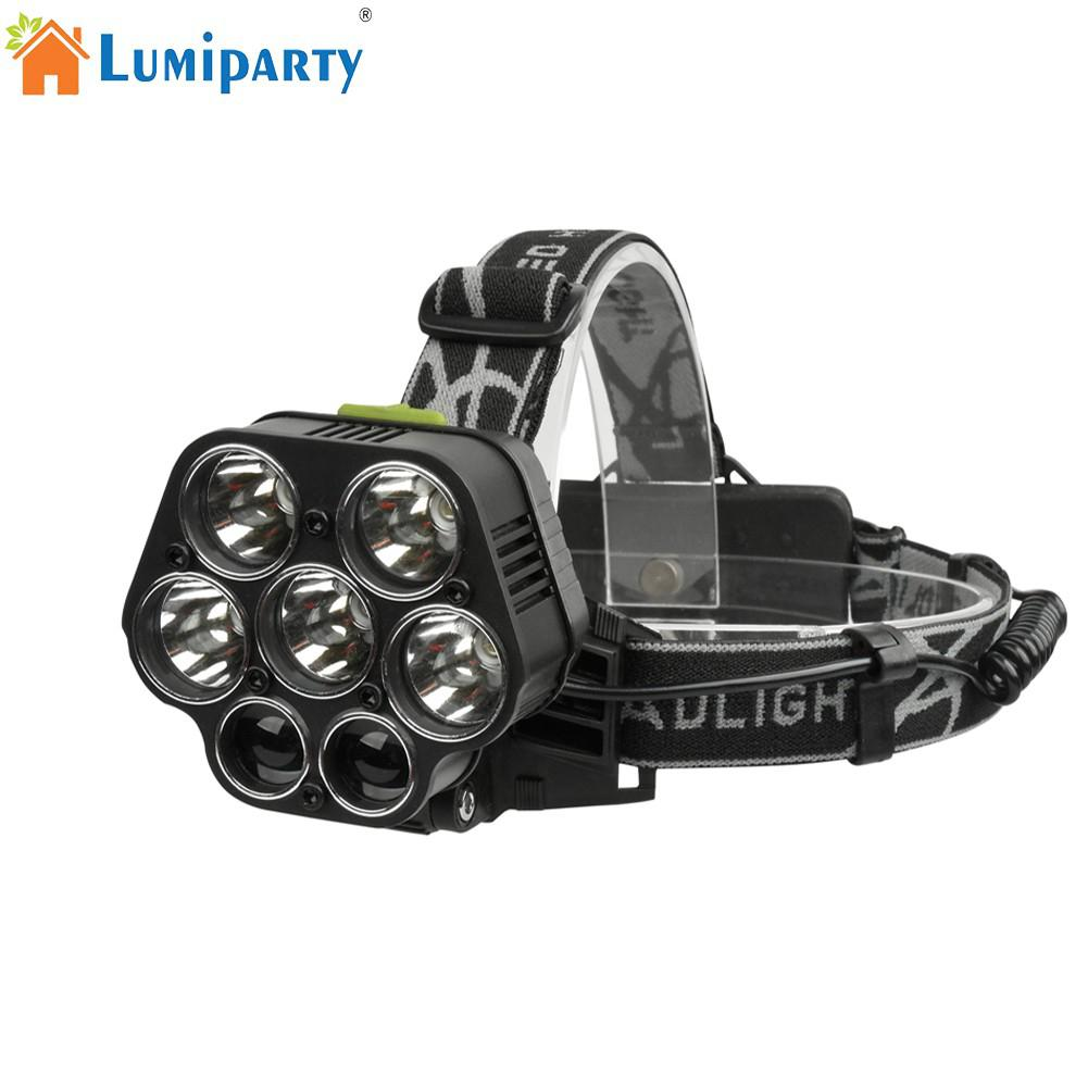 LumiParty USB Charging T6+XPE Strong Light Headlight Camping Lamp for Night Fishing Outdoor Activities