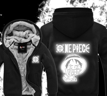 Black White Luminous Fluorescence Winter Hoodies Sweatshirt Men Casual Male Jackets Hoody Cloak Shawl Men Cloth Warm