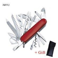ZQXYSJ 1 шт. швейцарский карманный складной Мульти инструмент нож Suvival нержавеющая сталь армейский кемпинг многоцелевой Открытый Охота EDC инструменты