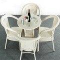 Grupos de 5 unids Patio muebles de la rota Patio trasero exterior mesa de comedor y 4 sillas