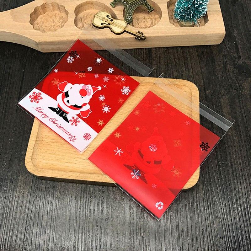 US  11.24 100 pcs lot Red Santa Claus adhesive bag cookies d... US  2.51  1pcs Cute Christmas candy boots gift ... a68bdc93767f