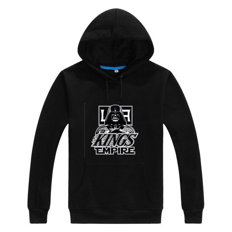 Asian Size 2017 kings Empire Star Wars Darth Vader Men Sweashirt Women Chicago Los Angeles LA warm hoodies 0104-12
