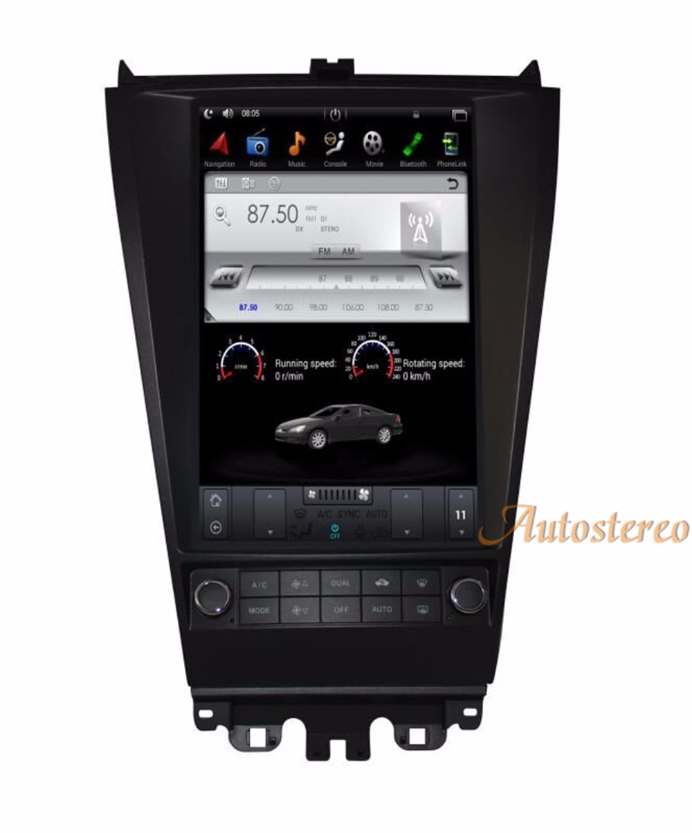 все цены на Big Screen Android 6.0 Tesla style Car no DVD Player GPS Navigation For HONDA ACCORD seven 2003-2007 stereo headunit multimedia онлайн