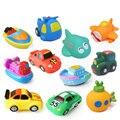 11 PCS Banho Do Bebê Brinquedos Brinquedos de Vinil PVC Ferramenta de Tráfego Para Navio Squeeze Som Do Carro de Pulverização de água de Praia Brinquedos de Banho Para Crianças