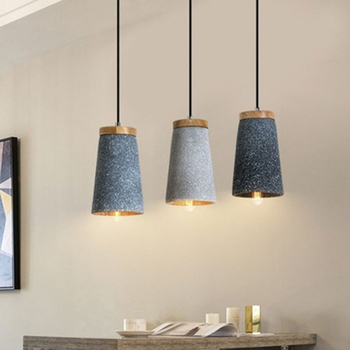 Modern Light LED Cement Pendant Lights Nordic Retro Dining Room Coffee Bar Industrial Wind Decor Pendant Lamp Lighting Luminaire