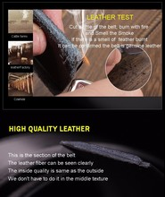 New 100% High Quality Luxury Genuine Cow Leather Belt For Men