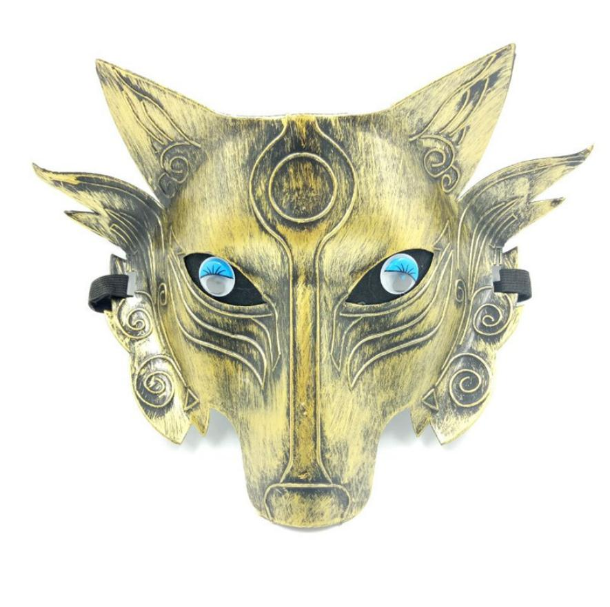 Wholesale 4 pc/lot Thickening Wolf Head Mask Vigilance Game Shading Anti-Cheat Mask Halloween Horror Mask Game Mask image