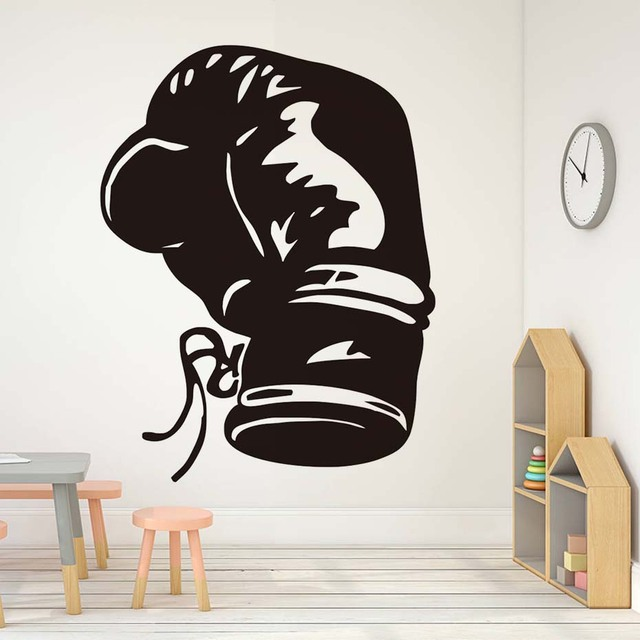 Fashionable Boxing Sports Wall Decals Home Decor Living Room Vinyl Boxing  Glove Wall Sticker For Boys