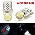 T10 194 168 W5W COB 8 SMD LED CANBUS de Sílice Blanco Brillante Bombilla Licencia