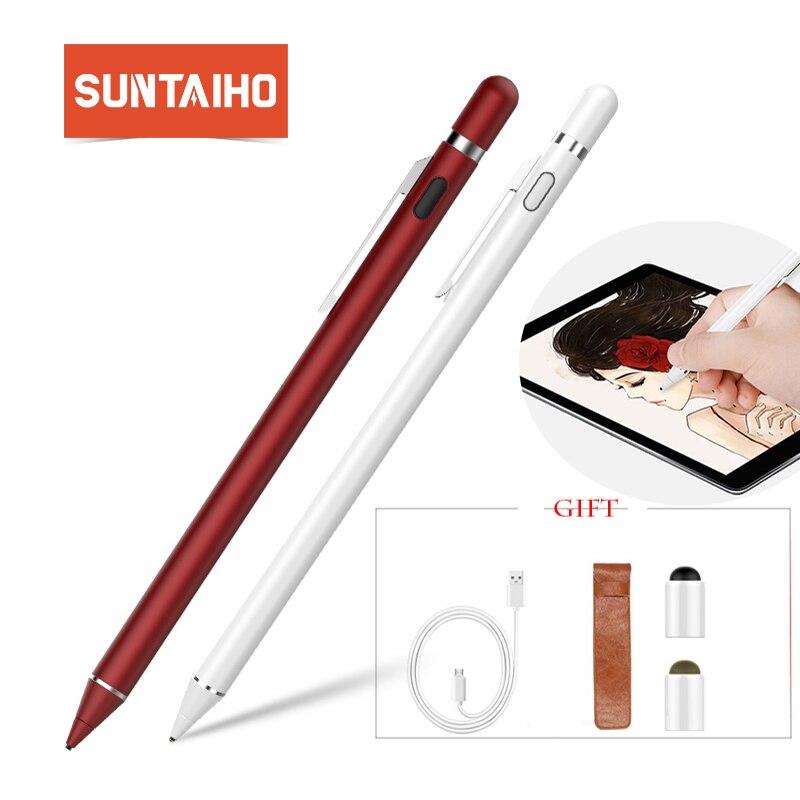 Suntaiho Nuovo Per Apple Matita Penna dello stilo di capacità Ad Alta precisione Della Penna di tocco Per il iphone iPad Pro/1/2 /3/4/iPad mini