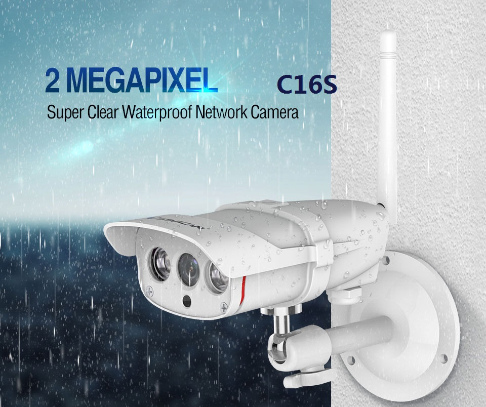 New arrival Vstarcam C16S HD 1080P Wifi IP Camera Waterproof IP67 Outdoor Wireless 2mp IP Camera Wireless IR-Cut support 128G TF vstarcam c7815wip 720p hd wireless bullet wifi ip camera outdoor security waterproof cctv compatibility and support 128g tf card