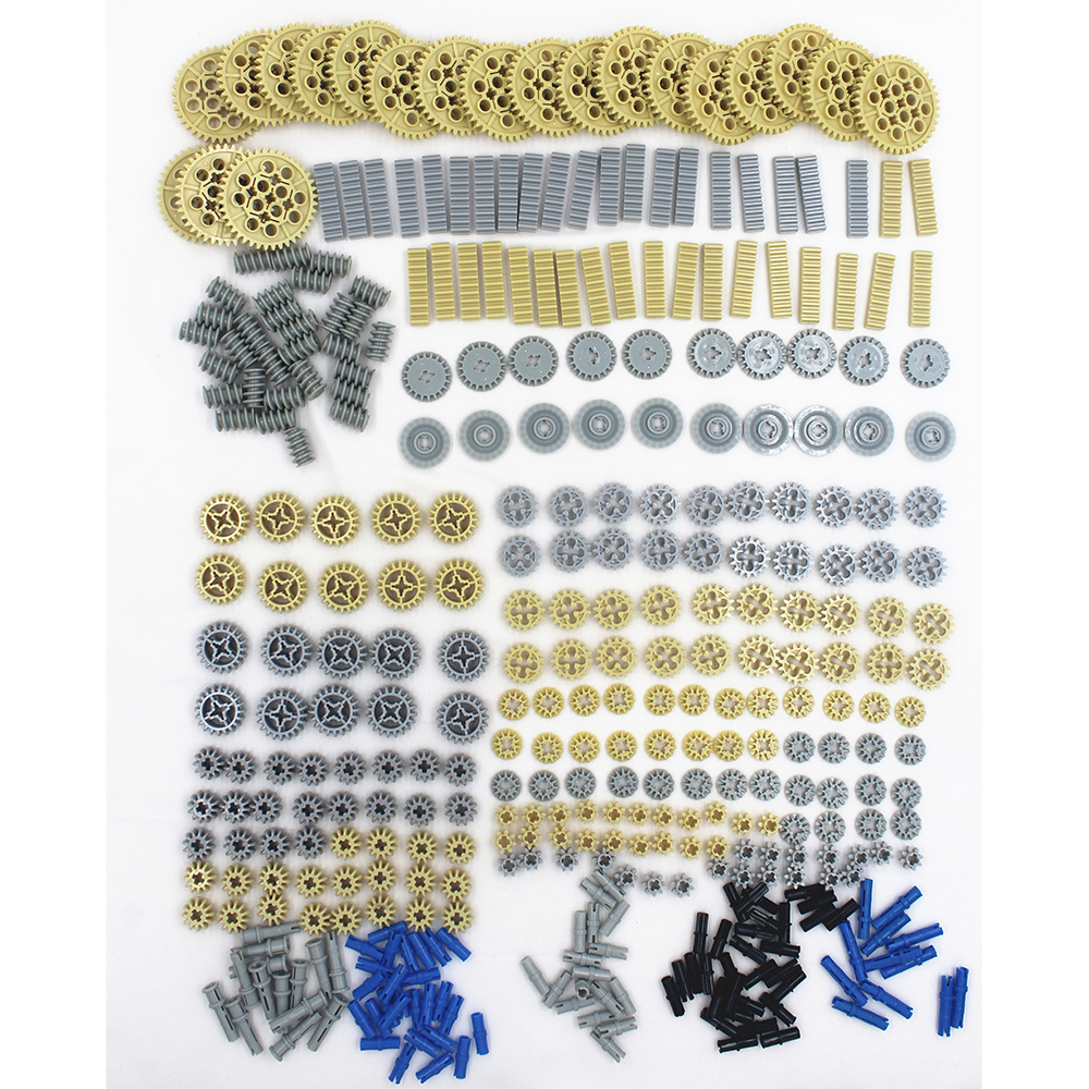 560pcs/set Building Blocks Bulk Technic Parts Technic Gears Rack Technic Connectors Compatible With Lego Technic Accessory
