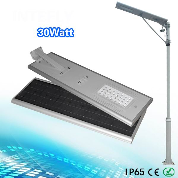 Us 1105 0 15 Off 30w Led Street Lights All In One Solar Lamp Integrated Light Soar Panel Lithium Battery 12w