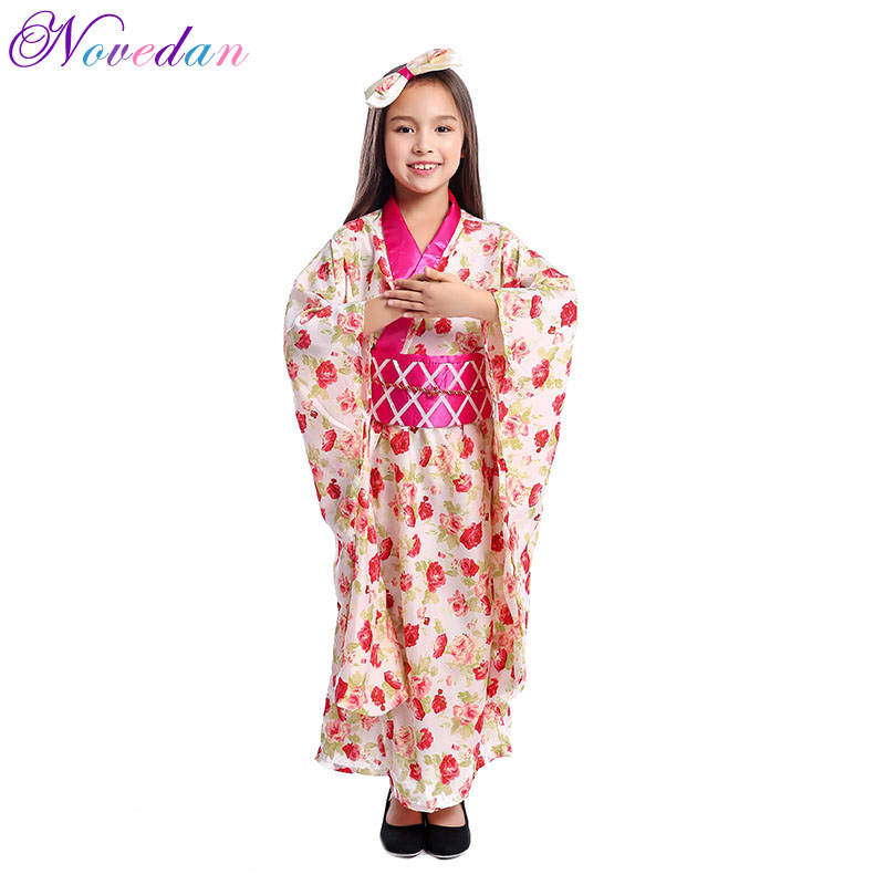 Costume Halloween Geisha.Girl Dress Asian Japanese Kimono Traditional Geisha Cosplay Costume Halloween Party Kids Stage Performance Children S Clothing Girls Costumes Aliexpress