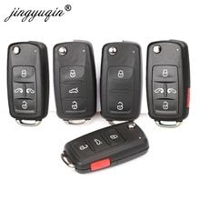Jingyuqin 2/3/4/5 ปุ่มRemote Key Shell FobสำหรับVW Polo Golf MK6 Tiguan touareg 202AD 202H 202Q