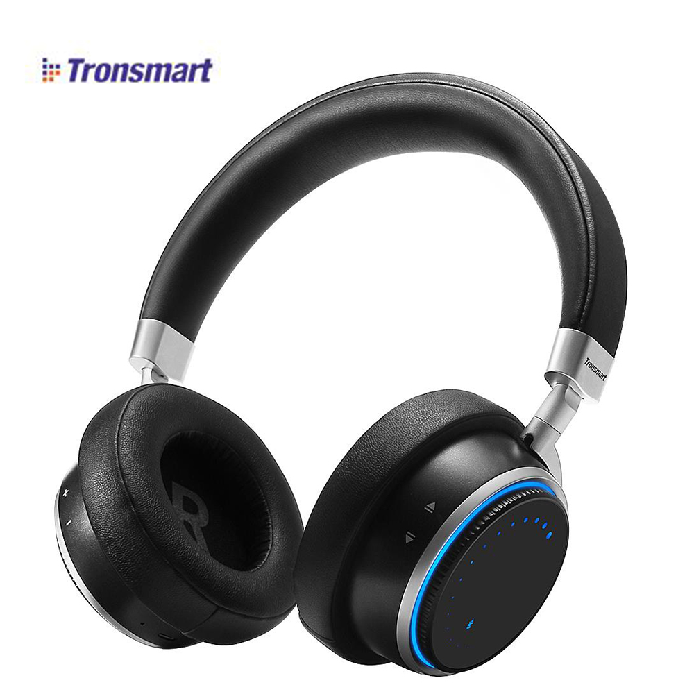 100 Original Tronsmart Arc Wireless Bluetooth 4 1 Headphones with Superior Sound Quality Blue Ring Lights