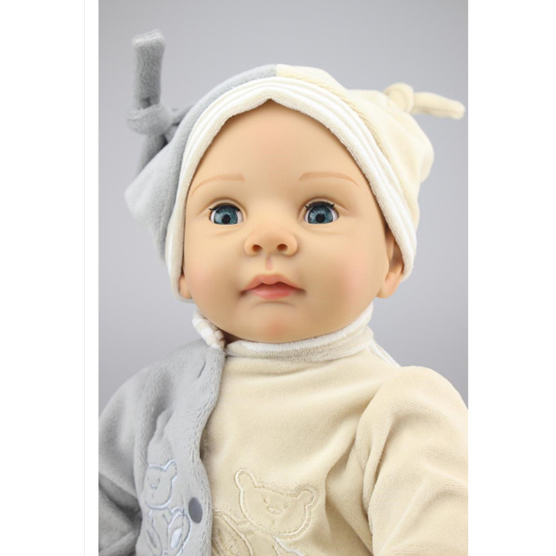 Vivid Silicone Reborn Dolls with Cloths,Cute 20 Inch/50 cm Lifelike Baby Reborn Doll Toys for Children Present keep in touch lovers watch luminescent calendar couple watches for lovers coffee golden watch men and women in pair with box