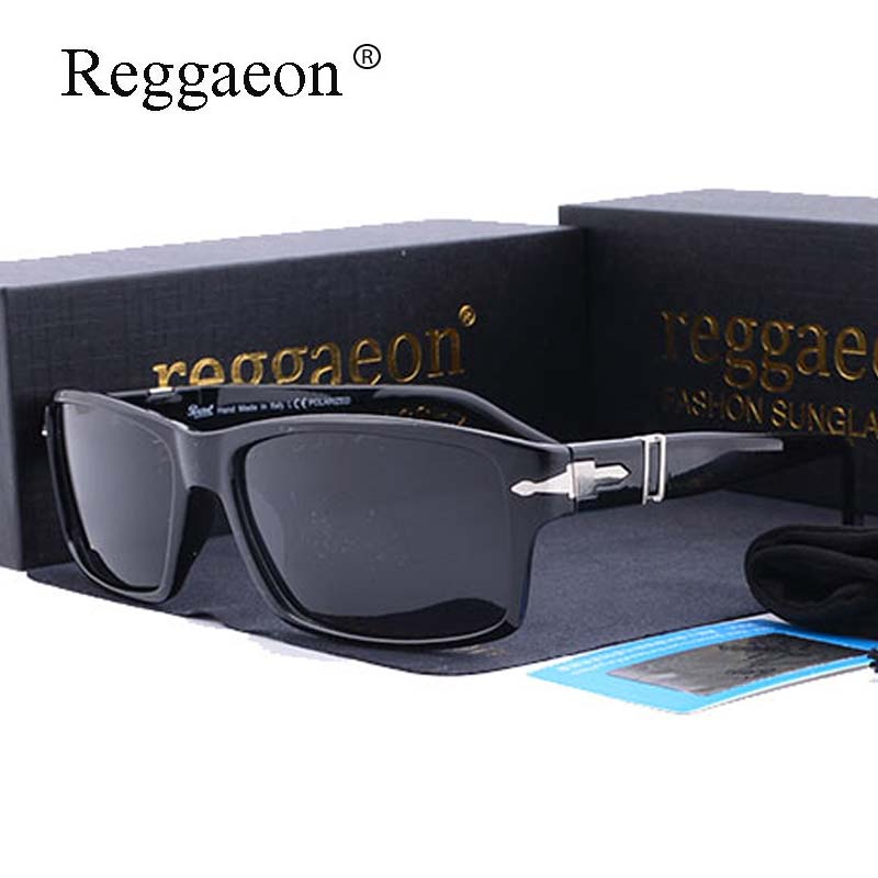 reggaeon Brand Polarized Driving Men Sunglasses Square Mission Impossible 4 Tom Cruise Style Sun Glasses UV400 Oculos De Sol