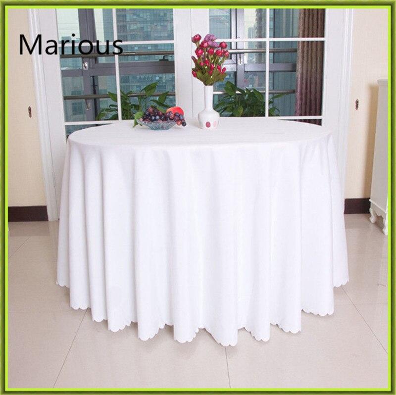 ୧ʕ ʔ୨Blanca marosa paño Mesa Redonda impermeable para bodas mesas ...