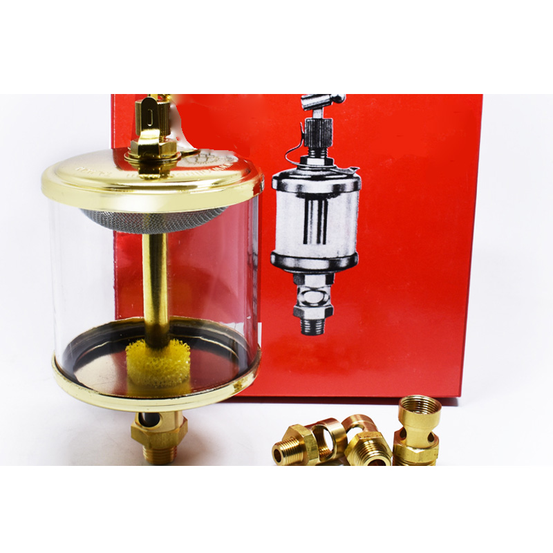 1PC 3 8 BSP Male 600ml Thread Needle Valve Filling Oil Cup Sight Gravity Drip Feed