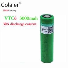 Colaier 1 UNIDS/LOTE 100% Original Para Sony 3.6 V US18650 VTC6 Para 18650 3000 mAh 30A para poder cigarrillo electrónico batería