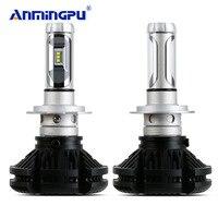 ANMINGPU 2PCS Car Light Super Bright Headlight Bulbs H7 Led Bulb 12000lm Canbus 3000K 6500K 8000K