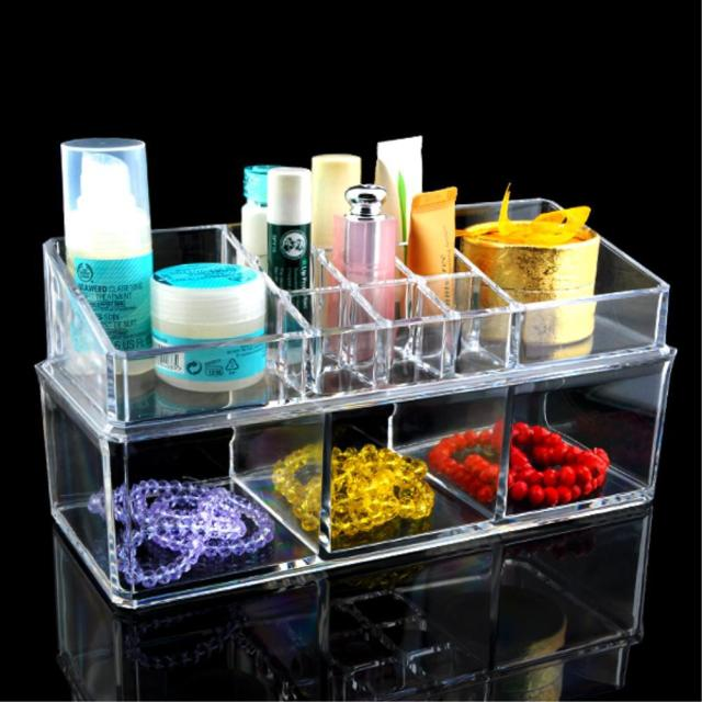 14 Grids Make up Storage Organizer jewelry Box Skin Care Holder Case