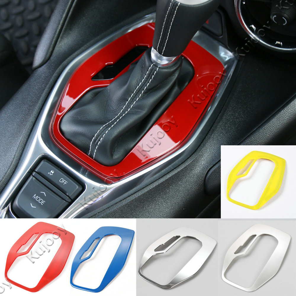 4Colors ABS Car Gear Shift Cover Tirm Frame Panel Sticker Decor For Chevrolet Camaro 2017 Styling Interior Accessories auto chrome camaro letters for 1968 1969 camaro emblem badge sticker