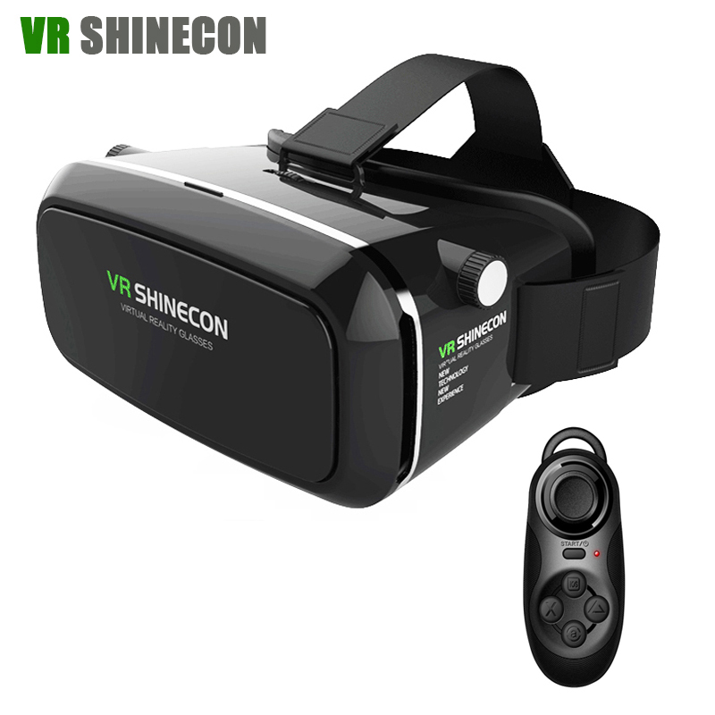 <font><b>VR</b></font> Shinecon <font><b>Virtual</b></font> <font><b>Reality</b></font> 3D Glasses Head Mount <font><b>google</b></font> <font><b>cardboard</b></font> 360 <font><b>VR</b></font> Headset For 4-6.0' <font><b>Mobile</b></font> <font><b>Phone</b></font> + Remote Control