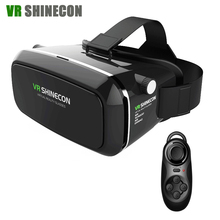 VR Shinecon Realidad Virtual Gafas 3D Head Mount google cartón VR Auricular Para 4-6.0 'Smartphones + Remote + Original caja