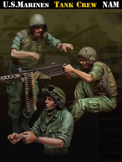 1//35 Resin Scale Model Vietnam War US Army Infantry Soldier Shooting M16