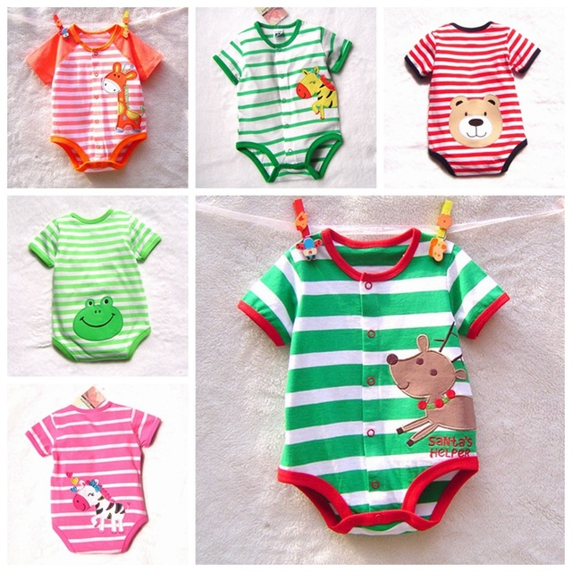 Fantasia Infantil Cartoon Bodysuits Baby Unisex Summer Newborn Body Boy Girl Creepers Jumpsuit Infant Clothes Bebe Clothing Wear