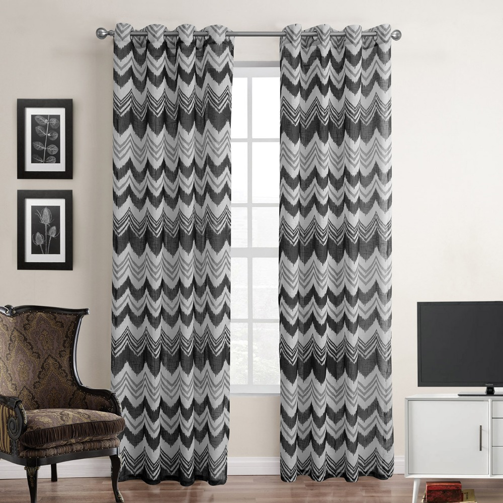 Printed Striped Window Curtain High Quality Living Room Kids Curtains With  Ring 1 Piece Free Shipping