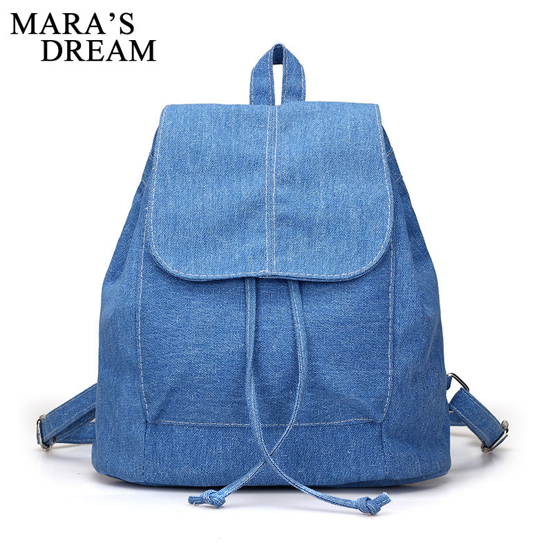 Mara's Dream Soft Canvas Women Backpack Drawstring School Bags Female Backpacks For Teenage Girls Mochilas Escolares Schoolbag