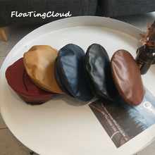 Fashion Casual 1Pcs Women Beret Hat PU Leather Retro Autumn Winter Accessories Lady Girl Hats Cap Elegant Vintage
