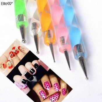 Elite99 5 Pcs 2Way Nail art Malerei Punktierung Maniküre Werkzeuge Malerei Pen Nail art Design Marbleizing Malerei Stift Werkzeug