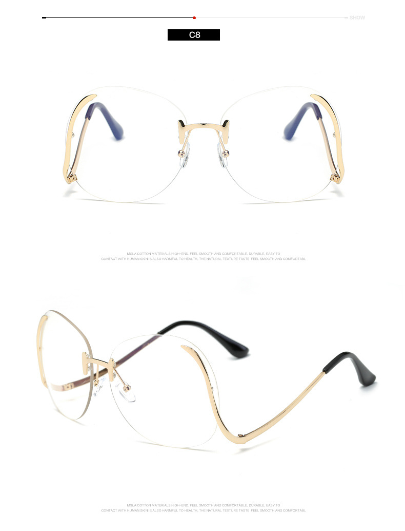 a70285eec3f Round Rimless Clear Oversized Women Sunglasses – Sellimart