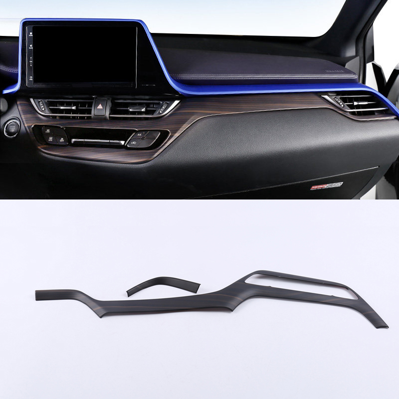 Pour Toyota C-HR CHR 2016 2017 2018 2019 bleu accessoires intérieur voiture avant bas milieu Console bande Decora couverture garniture 2 pièces