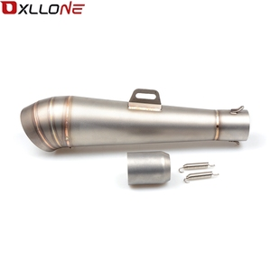 Image 2 - Universal 51MM Motorcycle Exhaust Pipe With Muffler Moto Bike Pot Escape For for honda CG125 CB190R 599 CB300F CB500F ABS