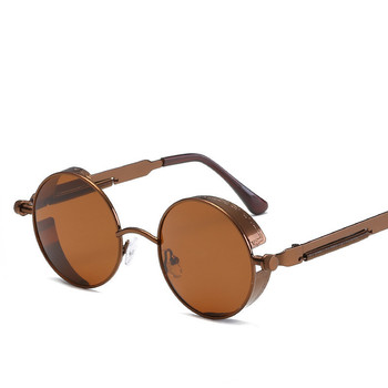 Steampunk Round Sunglasses for Men Women Fashion Brand Designer Retro Vintage Sun glasses Quality UV400 2