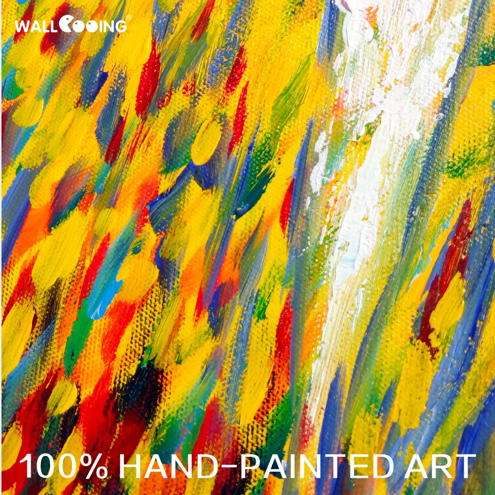 100% Hand-painted canvas painting artist Van Gogh paddy paint palette - Home Decor - Photo 4
