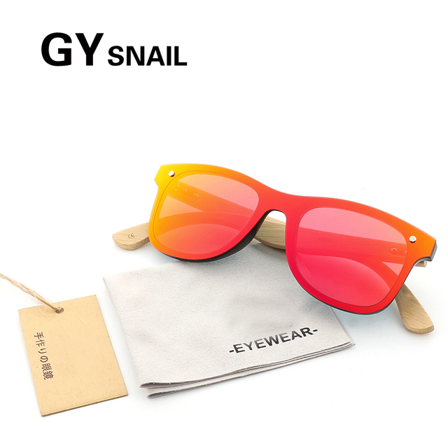 934b6f8c88 GY Bamboo Wooden Sunglasses women Polarized Handmade Mirror Coating male wood  sun glasses men brand designer Vintage Wood Box