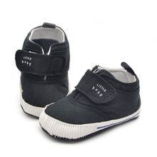 Casual Sneaker Toddler First Walkers Newborn Baby Boys Cotton Ankle Canvas High Crib Shoes