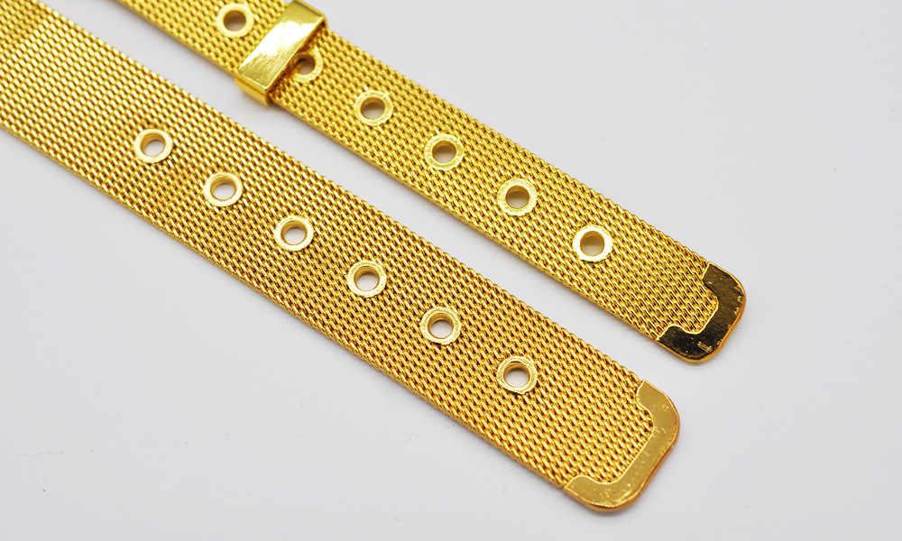 ขายส่งเงิน/สีทองสร้อยข้อมือสำหรับผู้หญิง, แฟชั่น 10 มิลลิเมตร/14 มิลลิเมตรตาข่ายนาฬิกากำไลและสร้อยข้อมือสำหรับผู้หญิงผู้ชายเครื่องประดับ