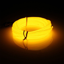 TSLEEN 2/3/5M Bendable EL Wire LED Lights Neon Battery Power Rope Strip Christmas Party Decorative Lamp