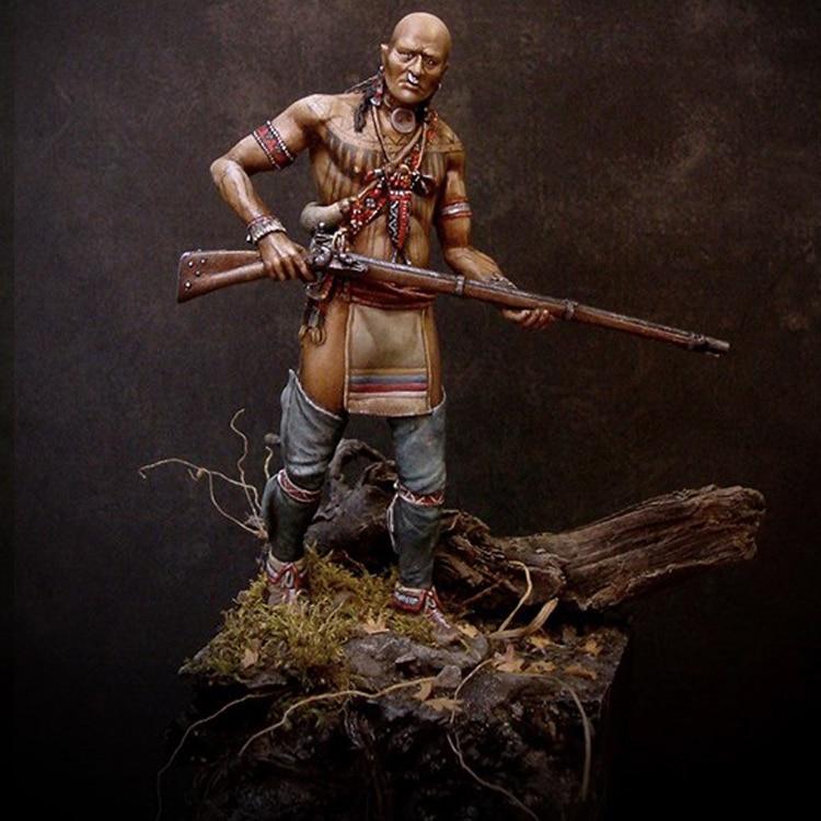 1/24 Cherokee Warrior, 18th Century, Resin Model Figure GK, Unassembled And Unpainted Kit