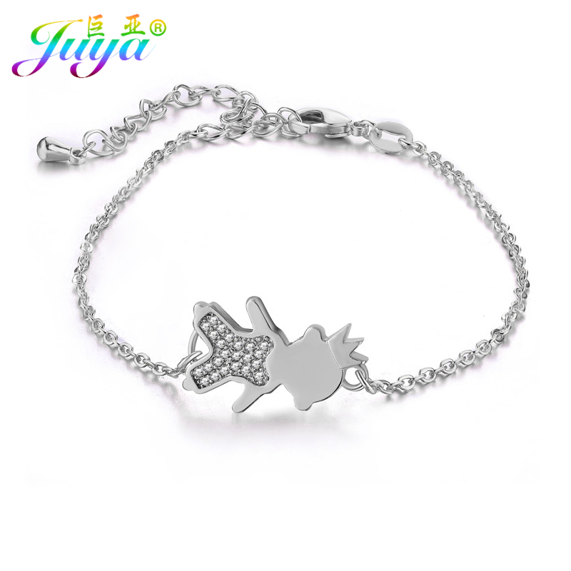 Friendship Bracelets CZ Rhinestones Kids Boys Girls Charms Gold Chains Fashion Daughter Bracelets For Women Mothers Day Gift ...